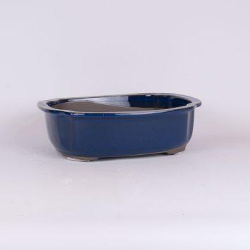 Maceta oval azul 28x24x8