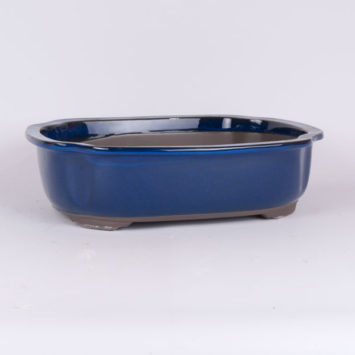 Maceta oval azul 32x27x9