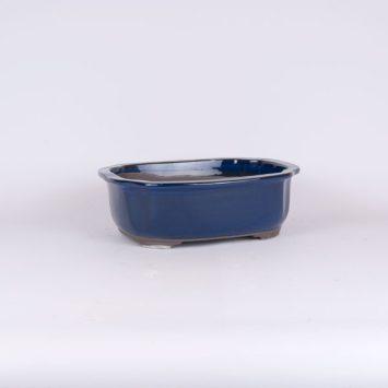Maceta oval azul 25x21x8
