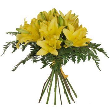 Ramo de liliums amarillos