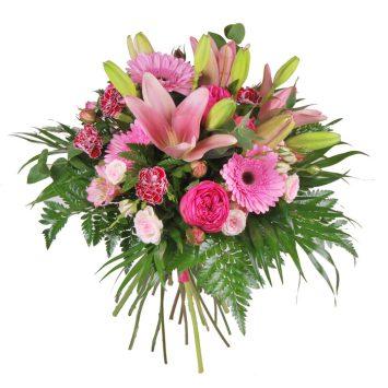 Bouquet de flores rosa
