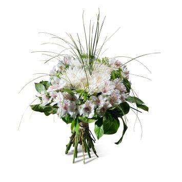 Ramo de Condolencias en tonos blancos - Ramo Blanco - Envío de Flores a Domicilio