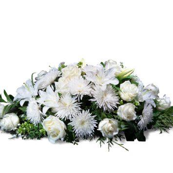 Almohadón pequeño en tonos blancos - Envío de Flores a Domicilio