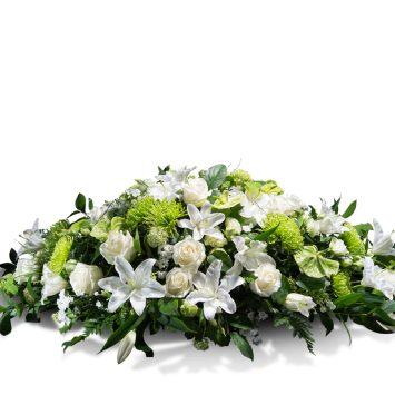 Almohadón en tonos blancos - Envío de Flores a Domicilio