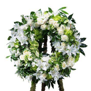 Corona Clásica blanca - Envío de Flores a Domicilio