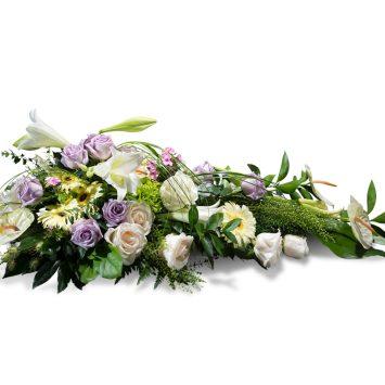 Palma en tonos verdes y blancos - Envío de Flores a Domicilio