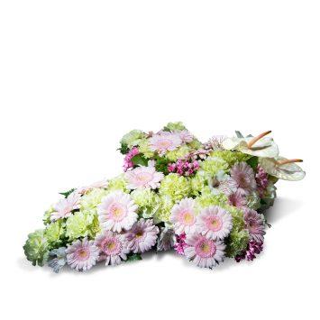 Cruz pequeña en tonos pastel - Envío de Flores a Domicilio
