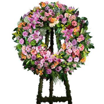 Corona Clasica multicolor - Envío de Flores a Domicilio