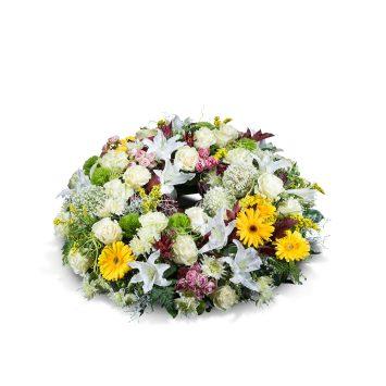 Corona mediana variada - Envío de Flores a Domicilio