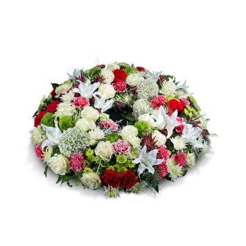 Corona mediana multicolor - Envío de Flores a Domicilio