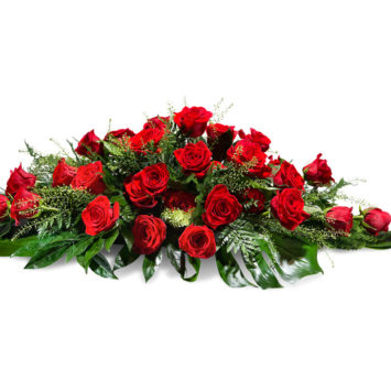 Almohadón de rosas rojas - Envío de Flores a Domicilio