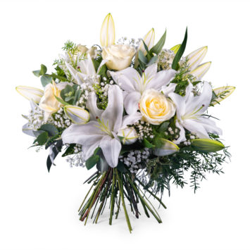 Arreglo de flor blanca - Envío de Flores a Domicilio