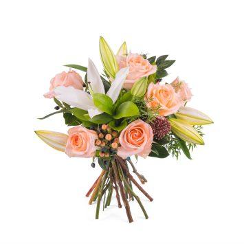 Arreglo de Rosas y Lilium - Envío de Flores a Domicilio