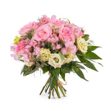 Ramo en tonos rosas - Envío de Flores a Domicilio
