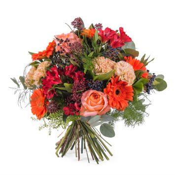 Ramo variado en tonos naranjas - Envío de Flores a Domicilio