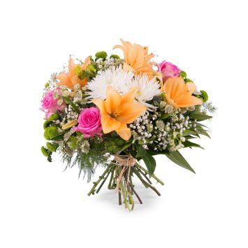 Ramo primaveral con Anastasias y Lilium - Envío de Flores a Domicilio