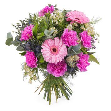 Ramo de clavel y gerbera - Envío de Flores a Domicilio