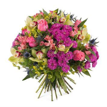 Ramo con rosas y orquideas - Envío de Flores a Domicilio