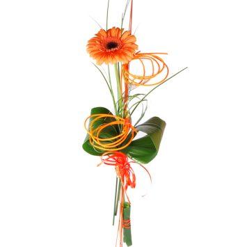 Gerbera naranja decorada