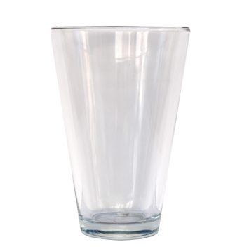 Jarrón de cristal de 26 cm