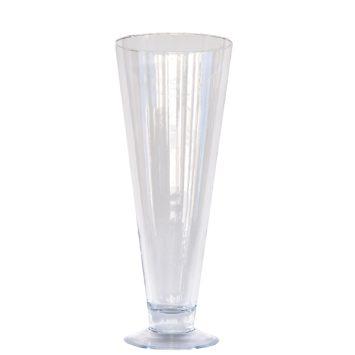 Jarrón de cristal copa 30 cm