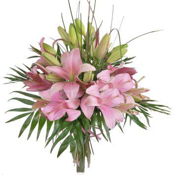 Ramo de lilium rosa