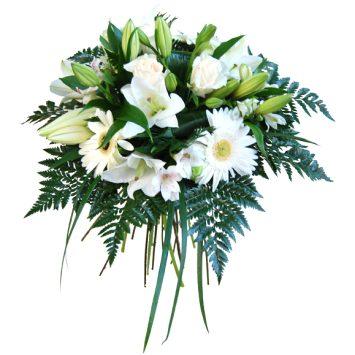 Ramo de flores blanco deluxe