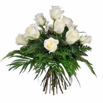Ramo de 12 rosas blancas pureza