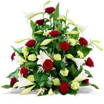 Ramo funerario Rojo y Blanco