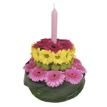 Tarta de flores para cumpleaños
